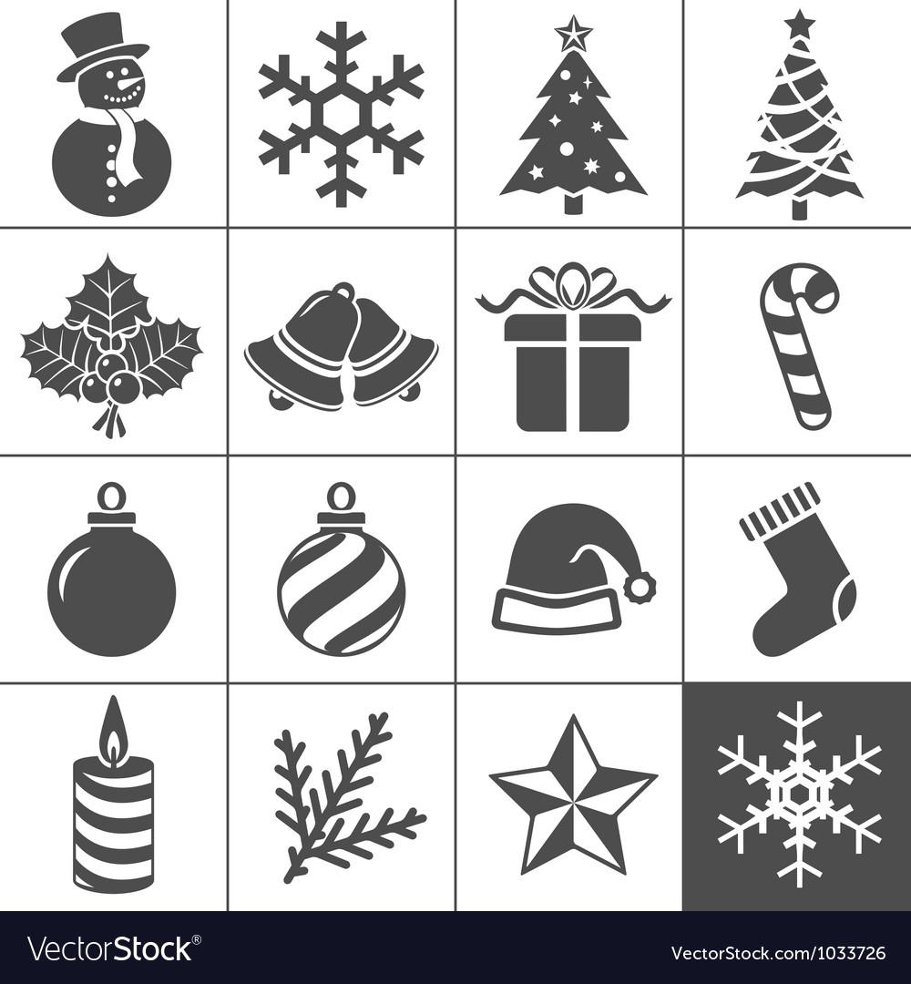 Christmas icons set - simplus series vector | Price: 1 Credit (USD $1)