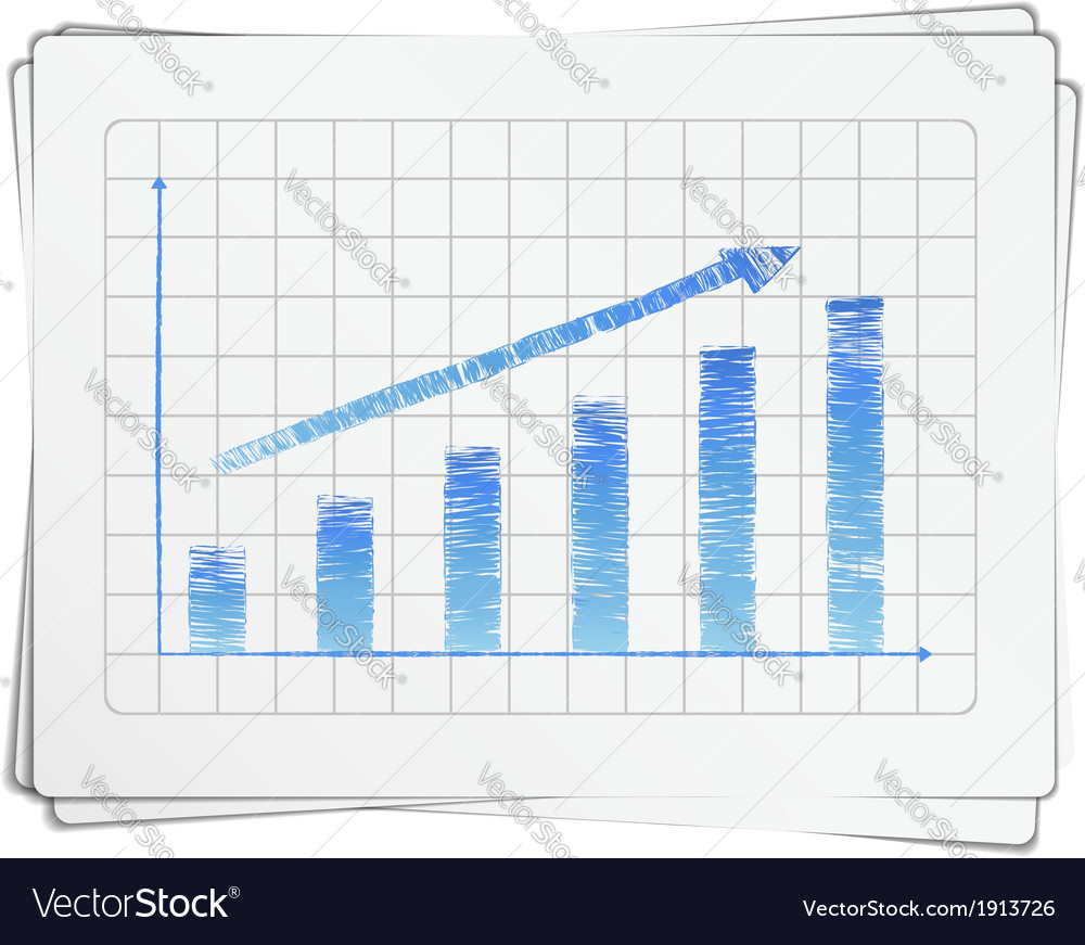 Hand drawn bar graph vector | Price: 1 Credit (USD $1)