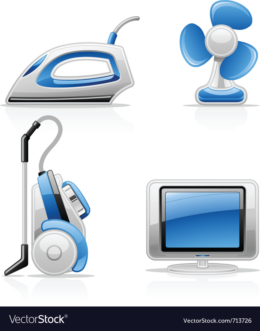 Household appliances vector | Price: 3 Credit (USD $3)