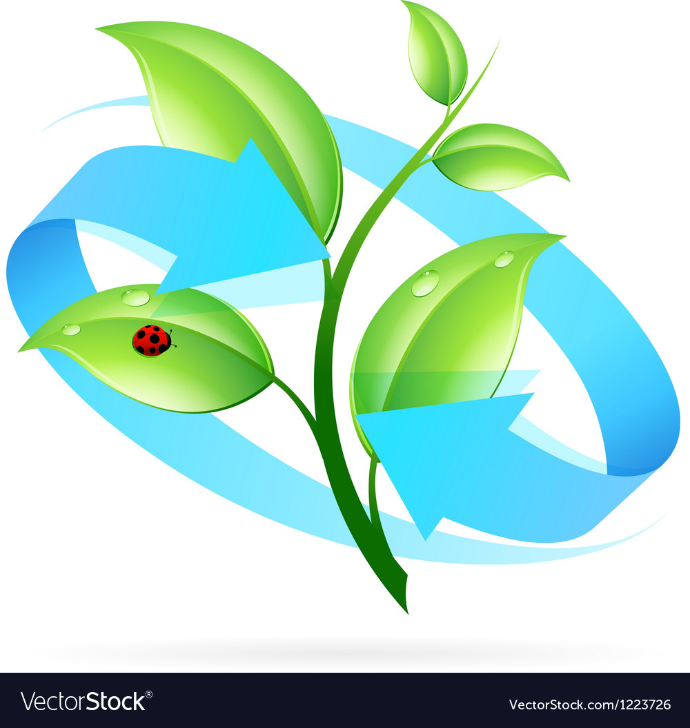 Logo nature recycle vector | Price: 1 Credit (USD $1)