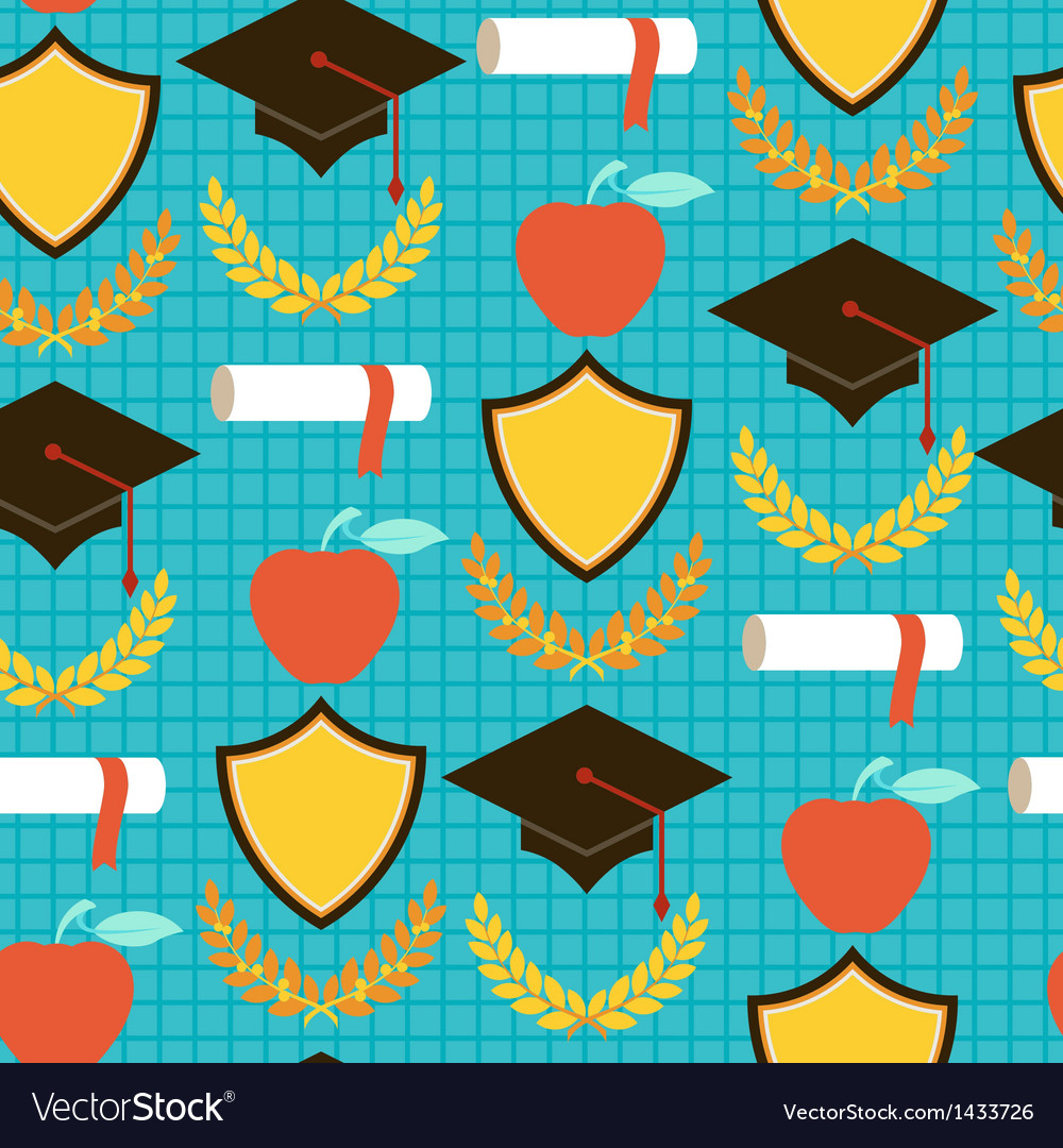 Seamless pattern with school icons vector | Price: 1 Credit (USD $1)