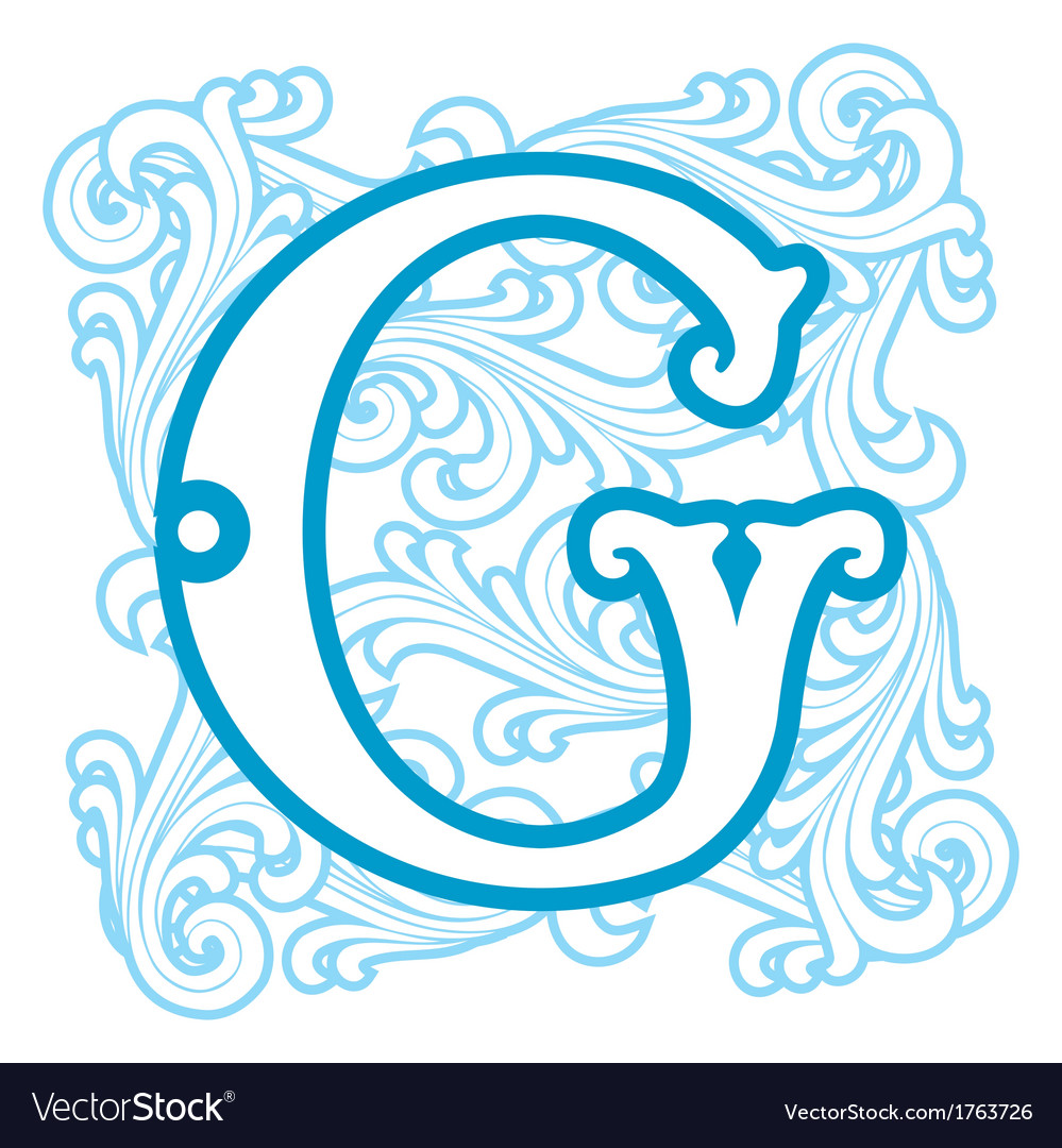 Winter vintage letter g vector | Price: 1 Credit (USD $1)