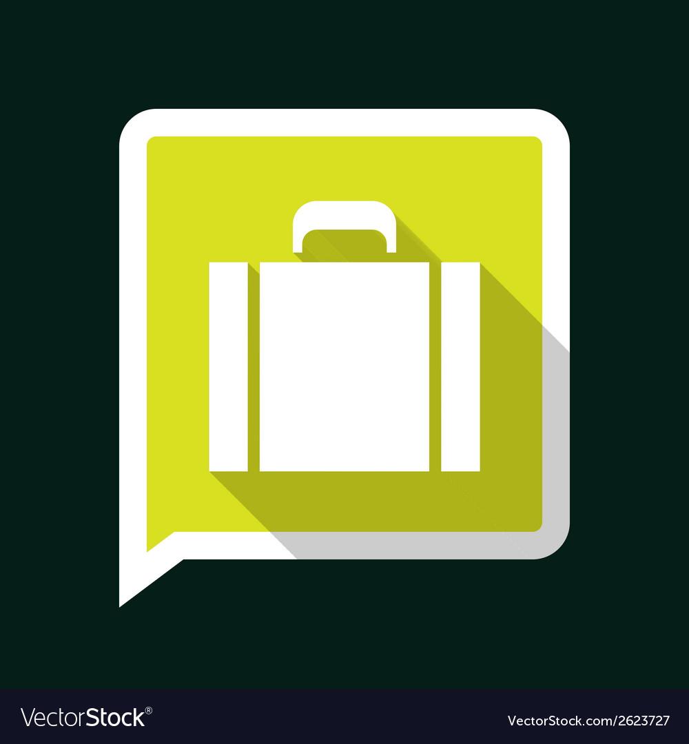Briefcaselongshadow vector | Price: 1 Credit (USD $1)