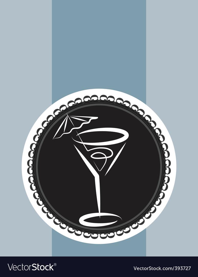 Cocktail design background vector | Price: 1 Credit (USD $1)