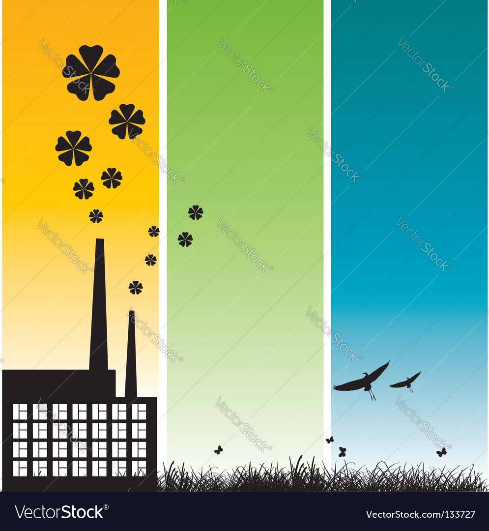 Ecology frame vector | Price: 1 Credit (USD $1)