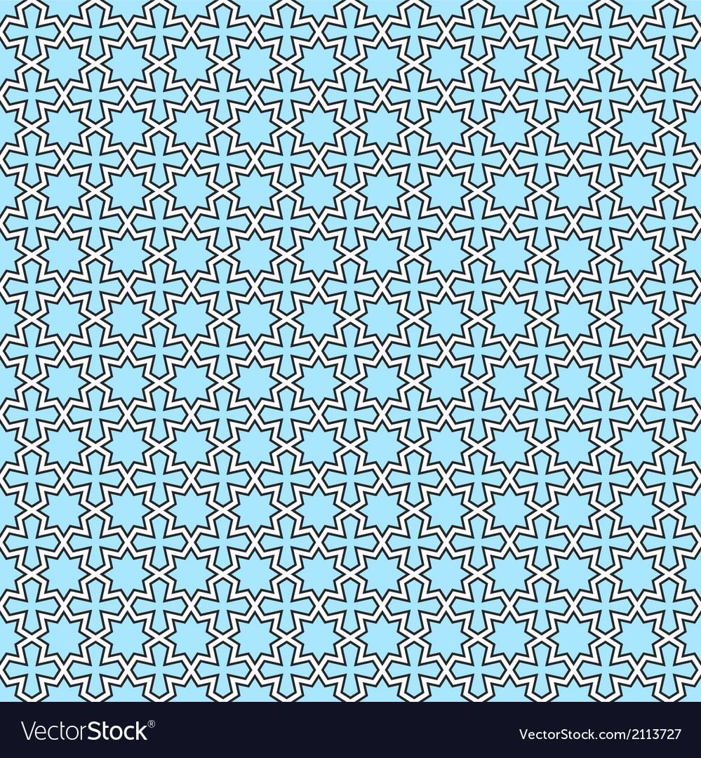 Seamless geometric oriental pattern vector | Price: 1 Credit (USD $1)