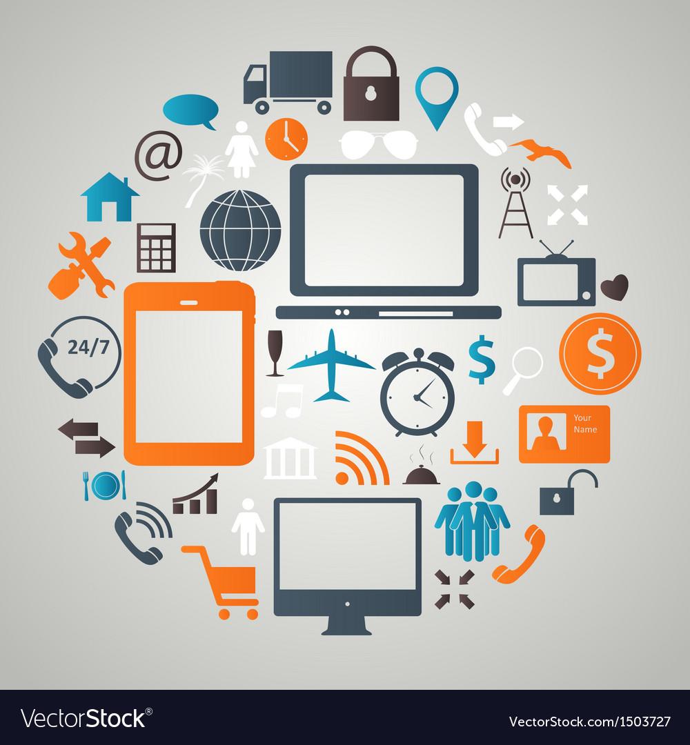 Social media concept vector | Price: 1 Credit (USD $1)