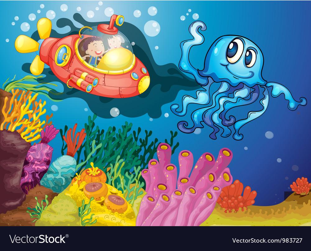 Under the sea adventure vector | Price: 3 Credit (USD $3)