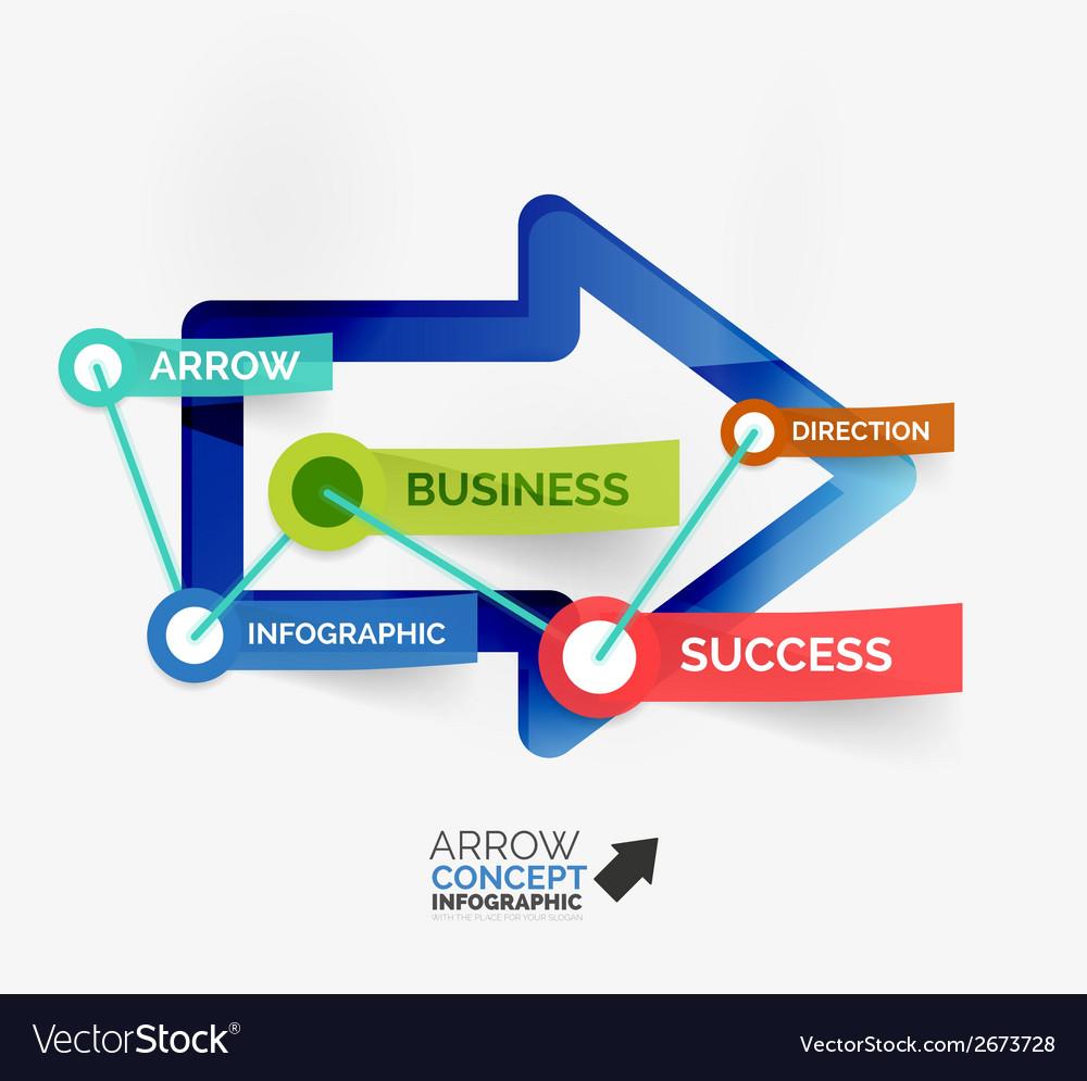Arrow infographic flat line concept vector   Price: 1 Credit (USD $1)