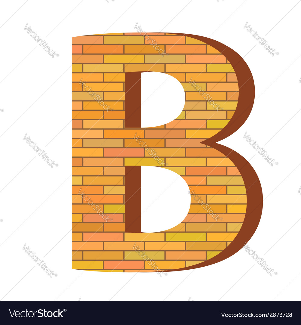 Brick letter b vector | Price: 1 Credit (USD $1)