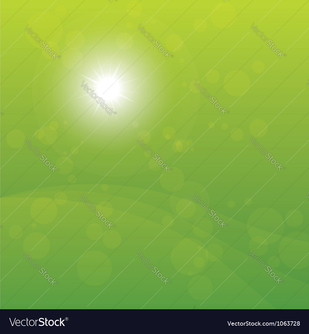 Bright sun burst green background vector | Price: 1 Credit (USD $1)