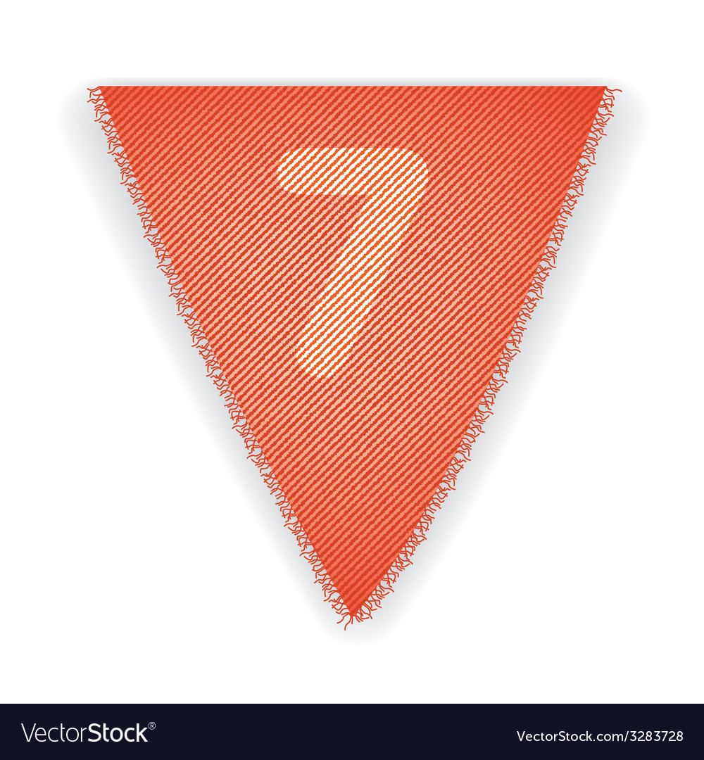 Bunting flag number 7 vector | Price: 1 Credit (USD $1)