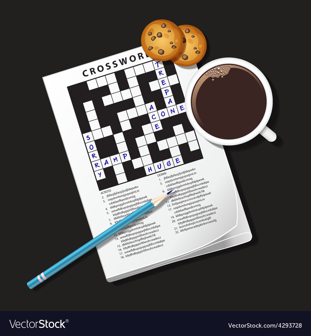 Crossword coffee vector | Price: 1 Credit (USD $1)