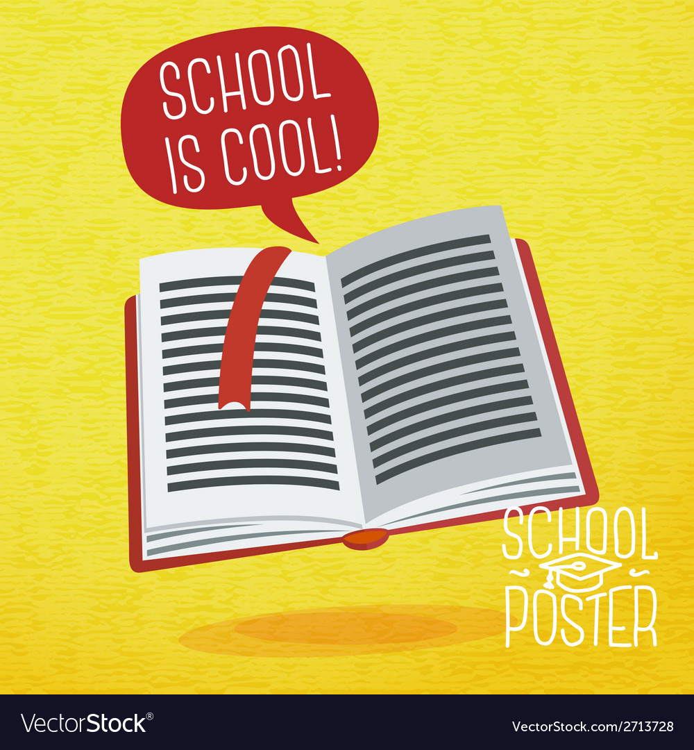 Cute school college university poster - study book vector | Price: 1 Credit (USD $1)