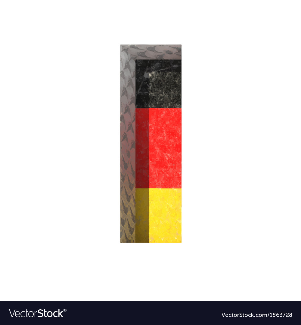 Germany cutted figure i vector | Price: 1 Credit (USD $1)