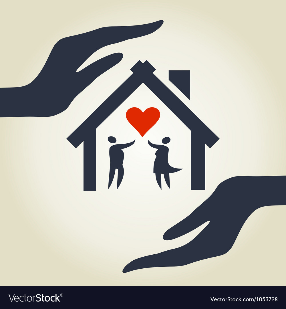 Love house vector | Price: 1 Credit (USD $1)