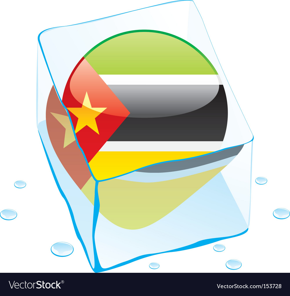 Mozambique flag vector | Price: 1 Credit (USD $1)