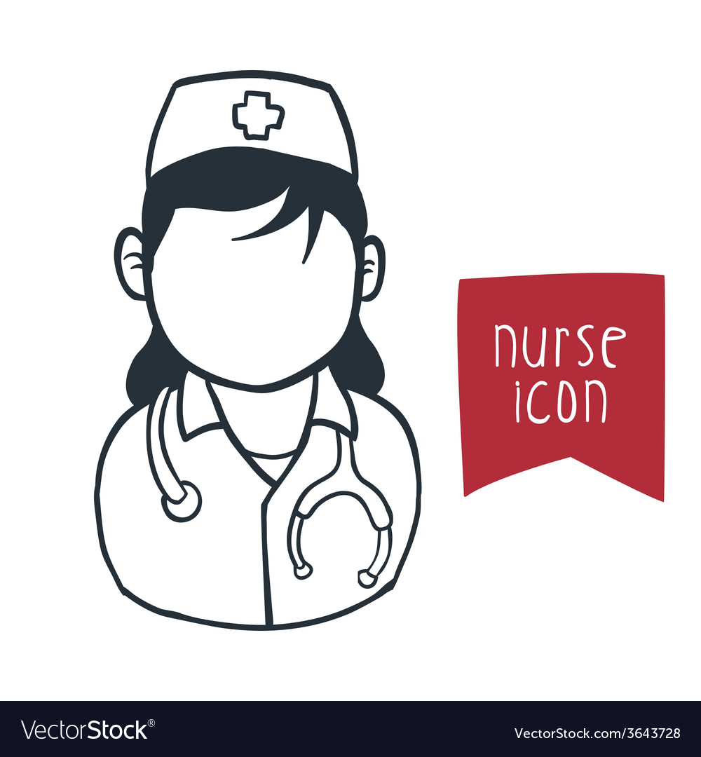 Nurse woman vector | Price: 1 Credit (USD $1)