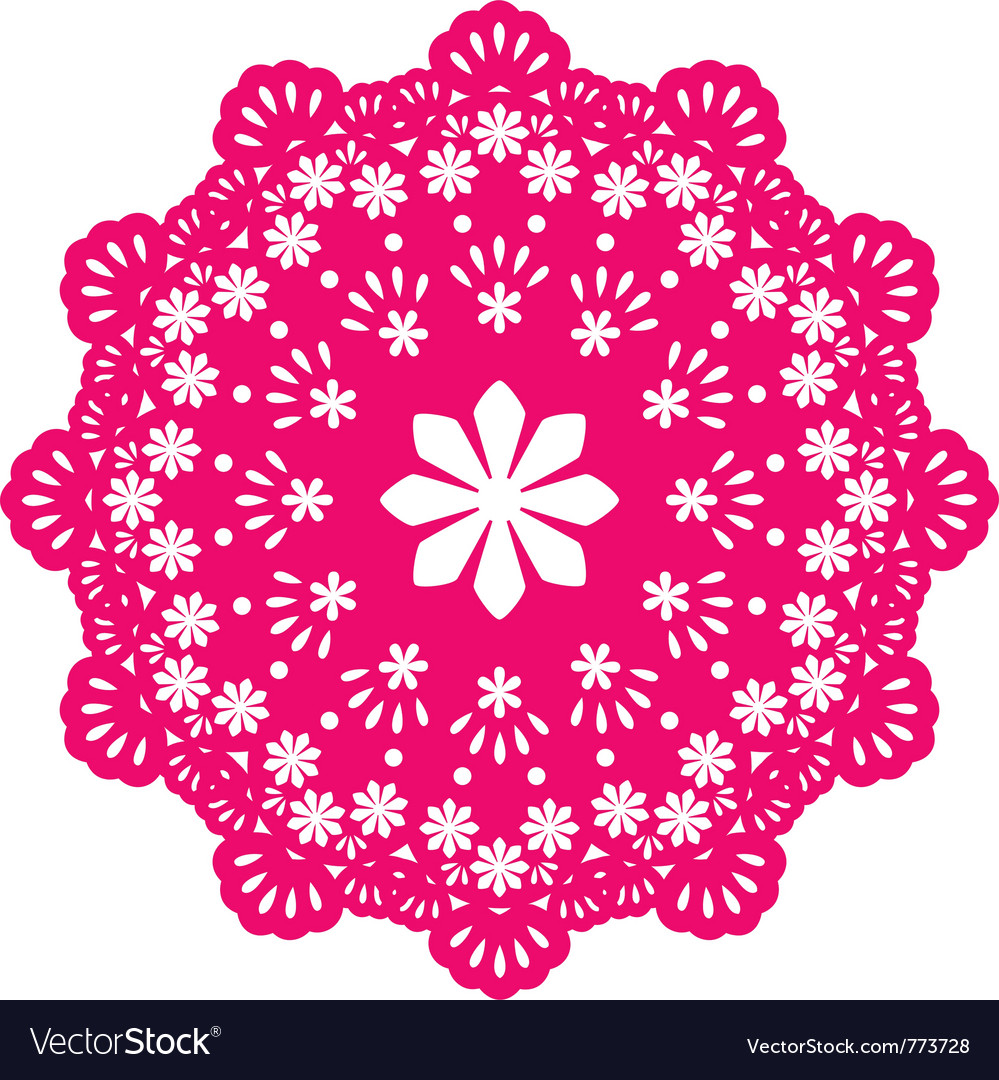 Round lace doily vector | Price: 1 Credit (USD $1)