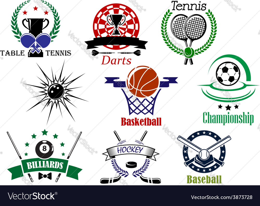 Sports emblems and logo with heraldry design vector | Price: 1 Credit (USD $1)