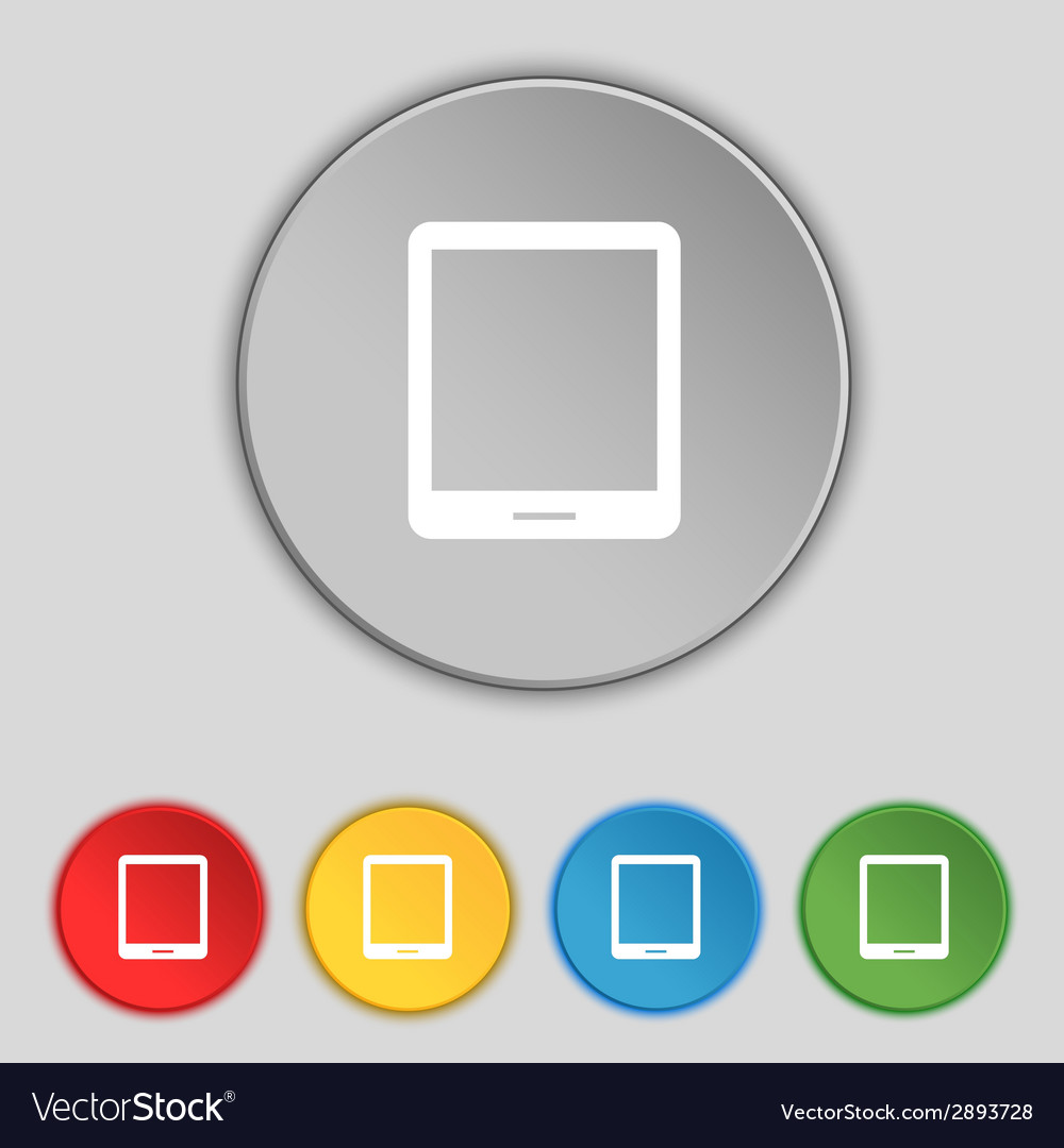 Tablet sign icon smartphone button set colur vector   Price: 1 Credit (USD $1)