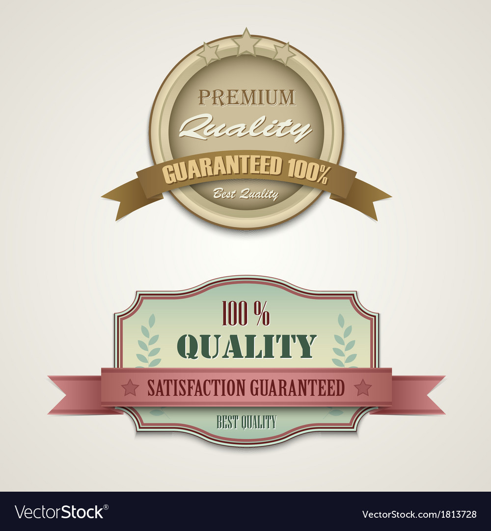 Vintage and retro web design elements vector | Price: 1 Credit (USD $1)