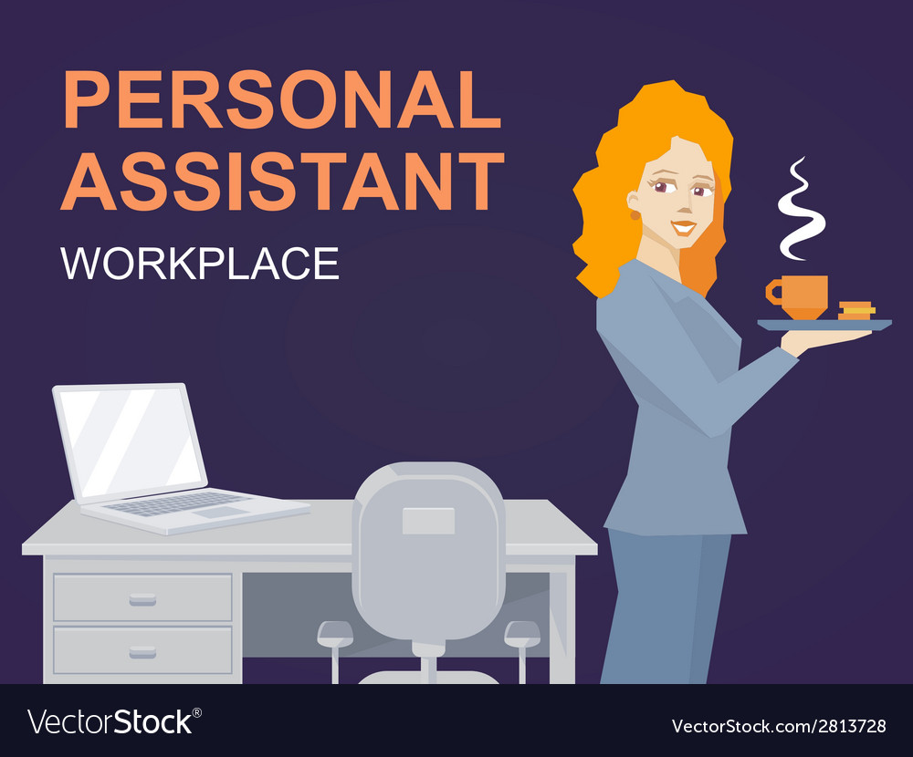 Woman portrait personal assistant with co vector   Price: 1 Credit (USD $1)