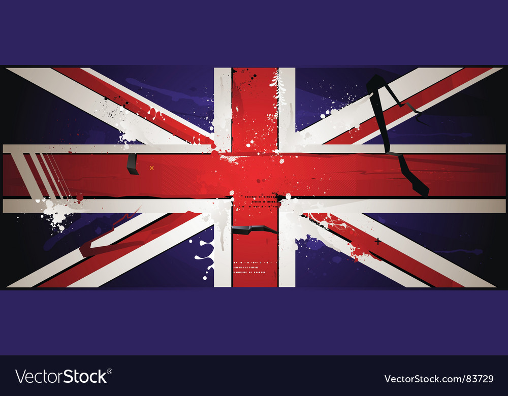 The british flag vector | Price: 1 Credit (USD $1)