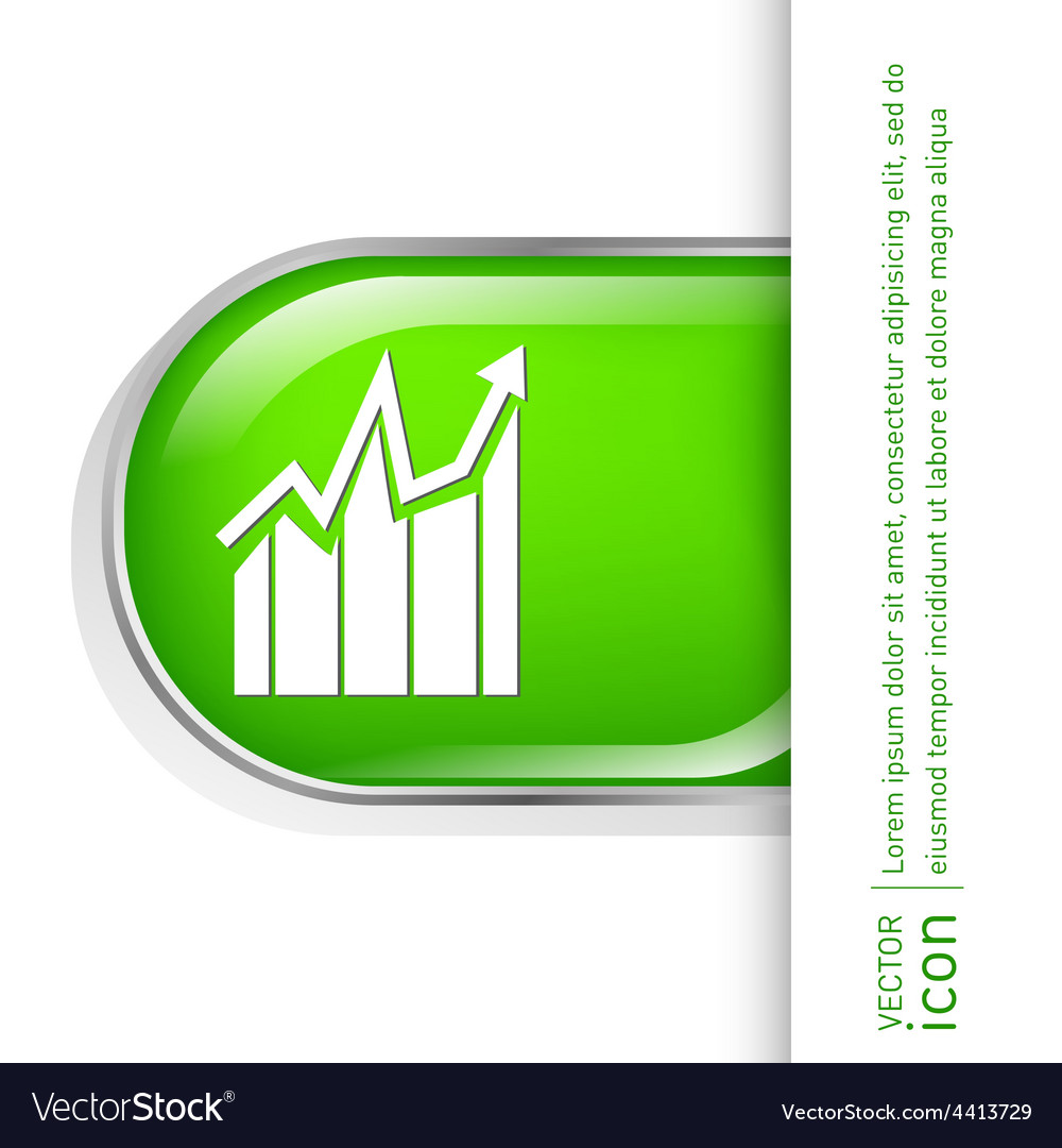 Chart diagram figure business icon vector | Price: 1 Credit (USD $1)