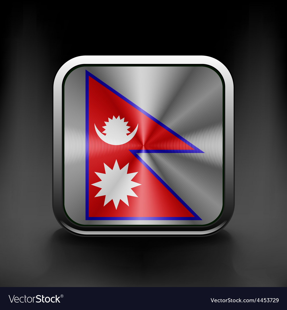 Flag nepal state symbol icon vector | Price: 1 Credit (USD $1)