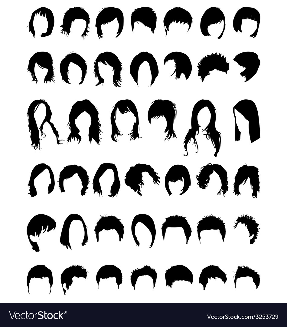Hair vector | Price: 1 Credit (USD $1)
