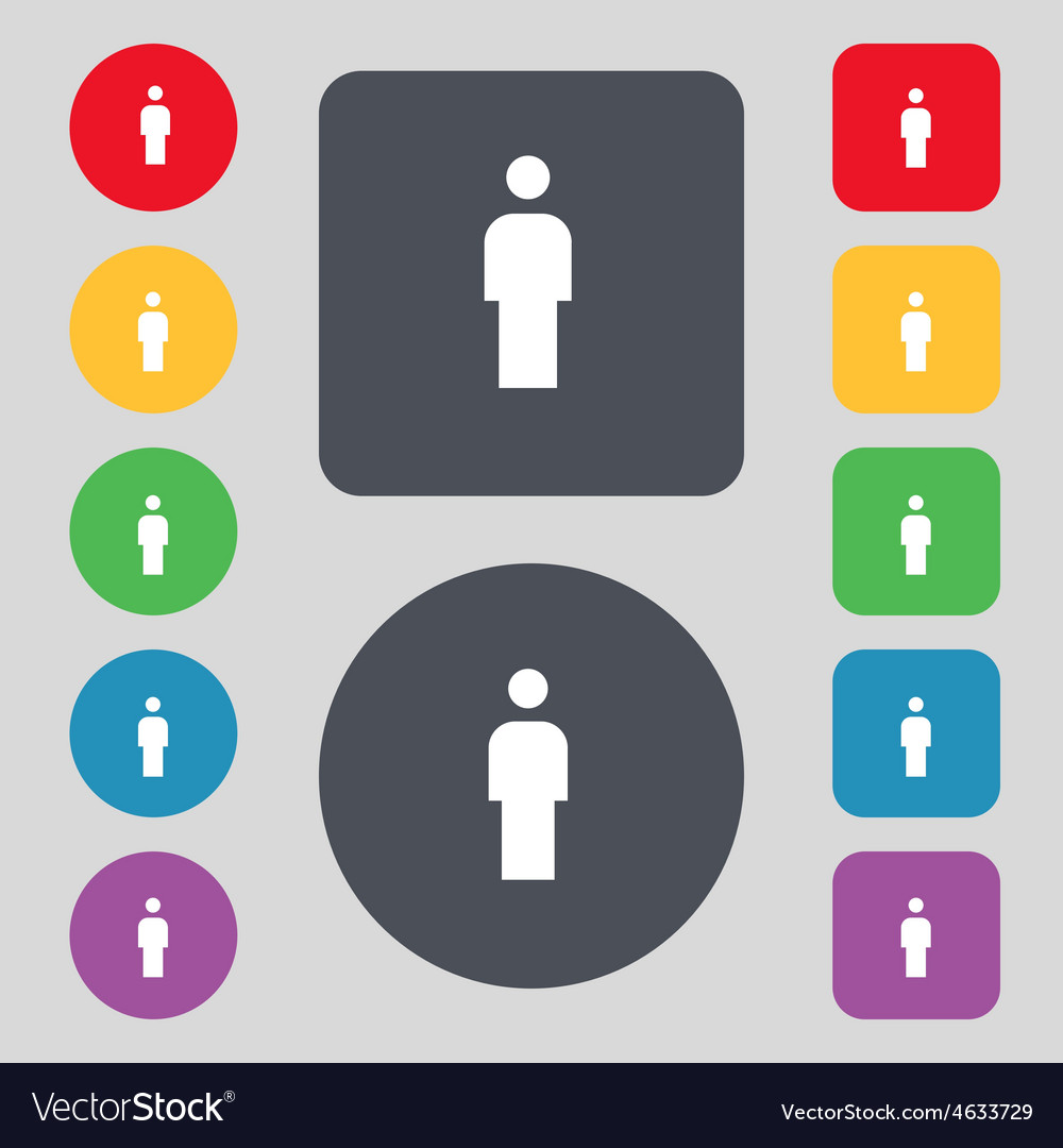 Human man person male toilet icon sign a set of 12 vector   Price: 1 Credit (USD $1)