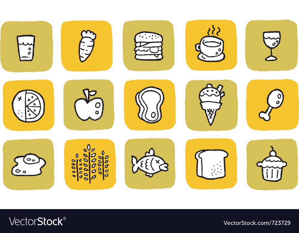 Icon food vector | Price: 1 Credit (USD $1)