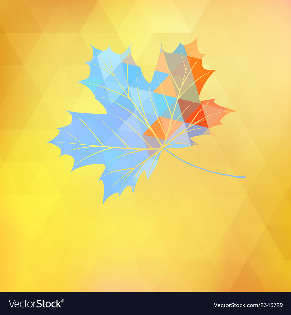 Maple leaf made of triangles eps 10 vector | Price: 1 Credit (USD $1)