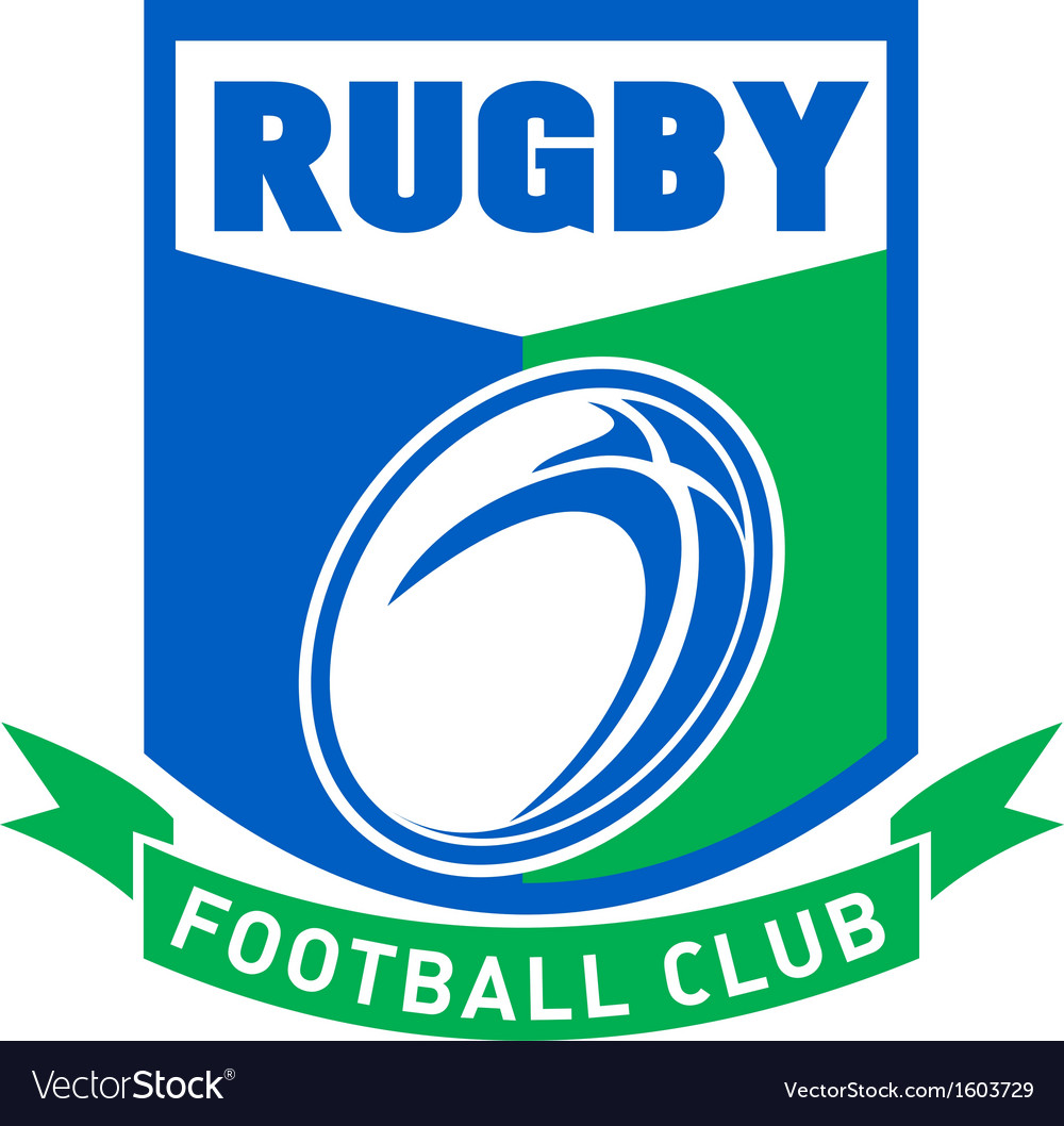 Rugby ball football club shield vector | Price: 1 Credit (USD $1)
