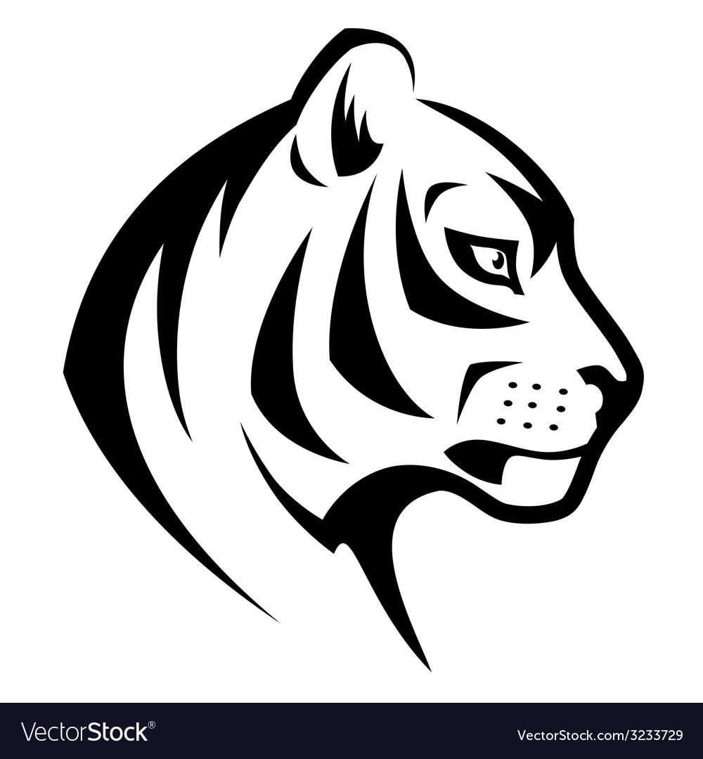 Tiger head symbol vector | Price: 1 Credit (USD $1)