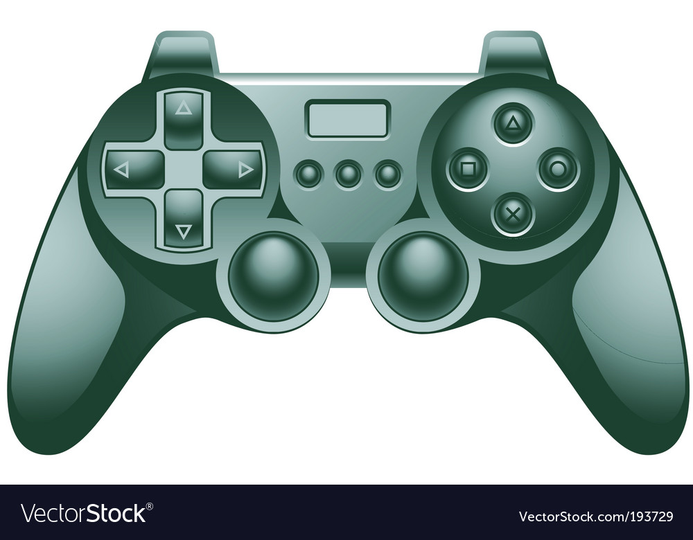 Video game controller pad vector | Price: 1 Credit (USD $1)