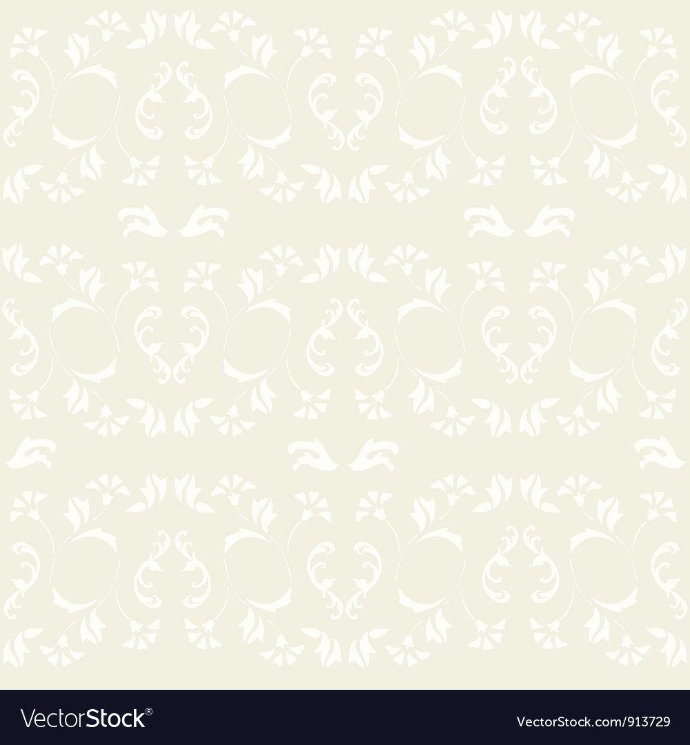 Vintage ornate seamless pattern vector | Price: 1 Credit (USD $1)