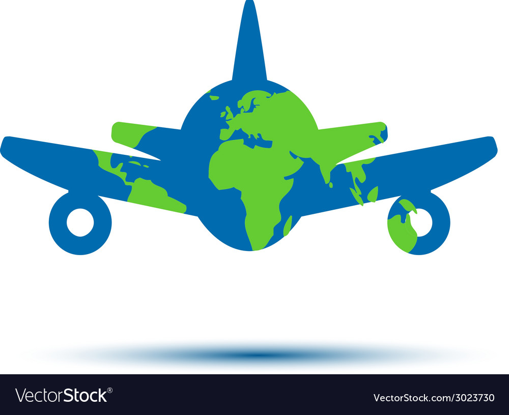 Abstract colorful minimalistic air plane logo vector   Price: 1 Credit (USD $1)