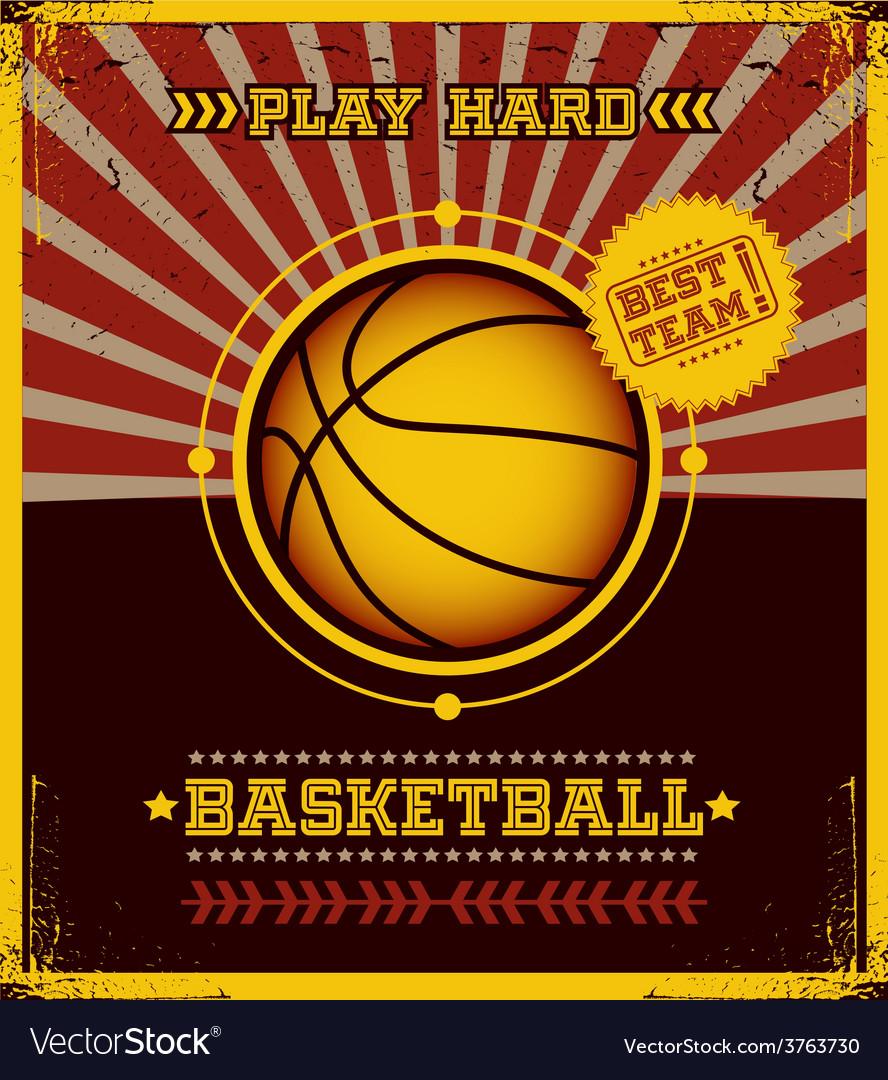 Basketball poster design vector | Price: 1 Credit (USD $1)