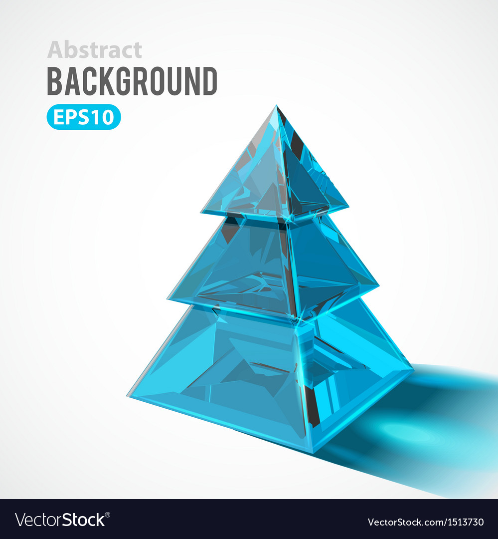 Christmas tree ice clear glass object vector | Price: 1 Credit (USD $1)