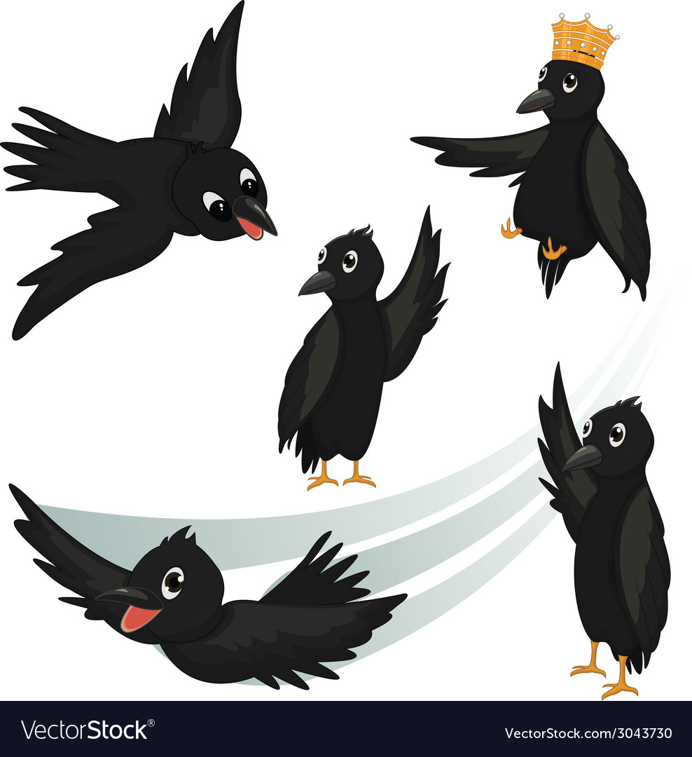 Crows vector | Price: 1 Credit (USD $1)