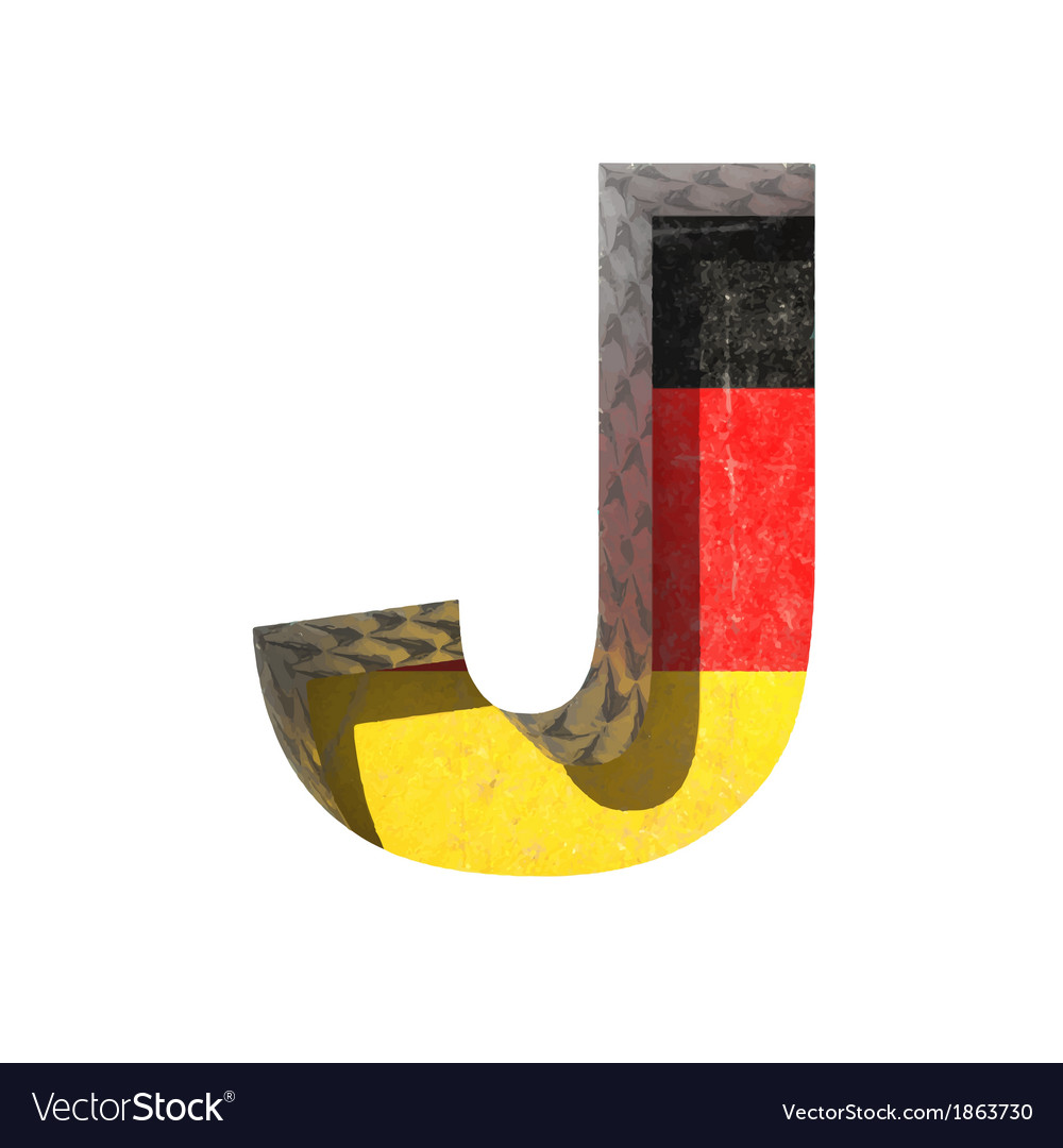 Germany cutted figure j vector | Price: 1 Credit (USD $1)
