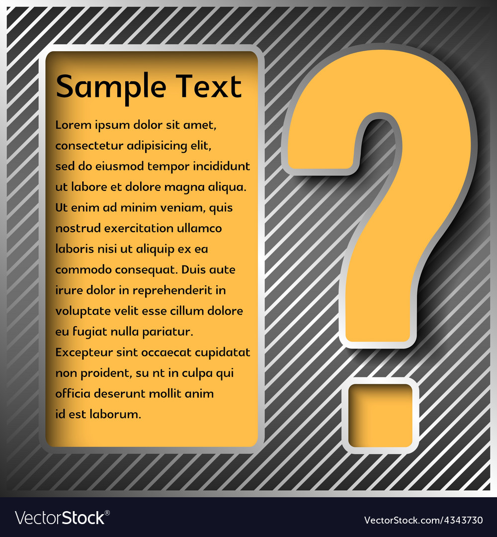 Information panel with a sign or questions vector | Price: 1 Credit (USD $1)