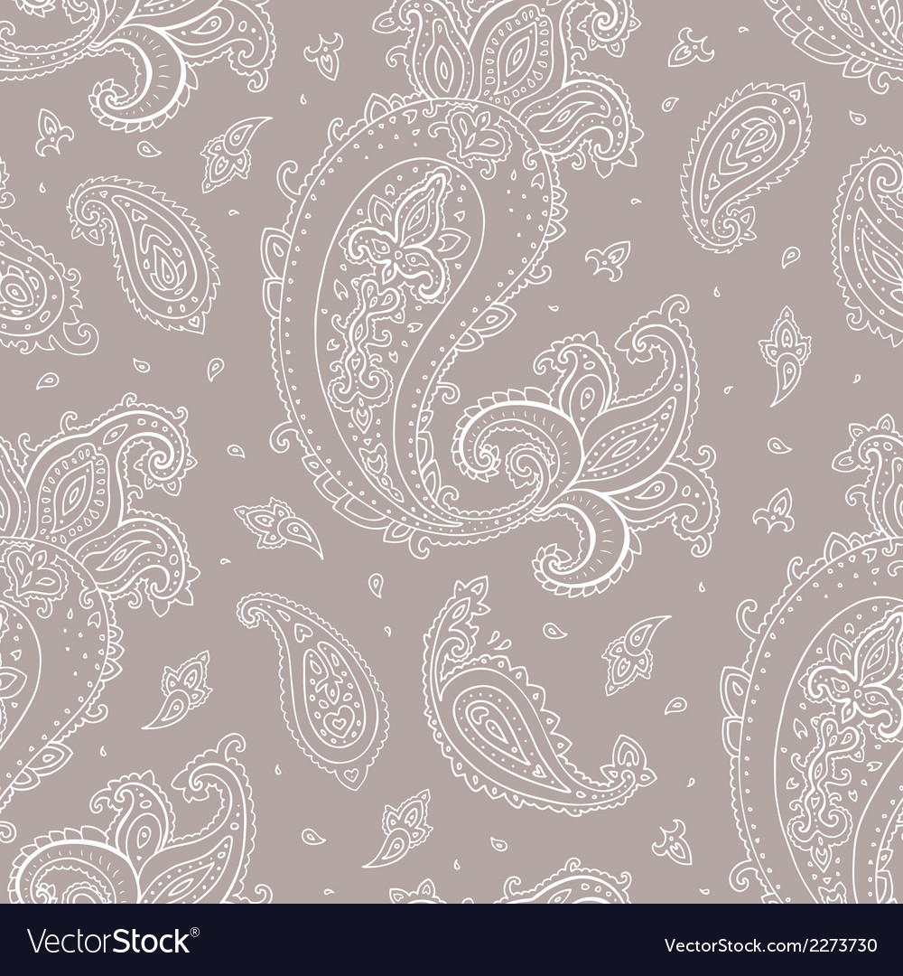 Seamless paisley background vector | Price: 1 Credit (USD $1)