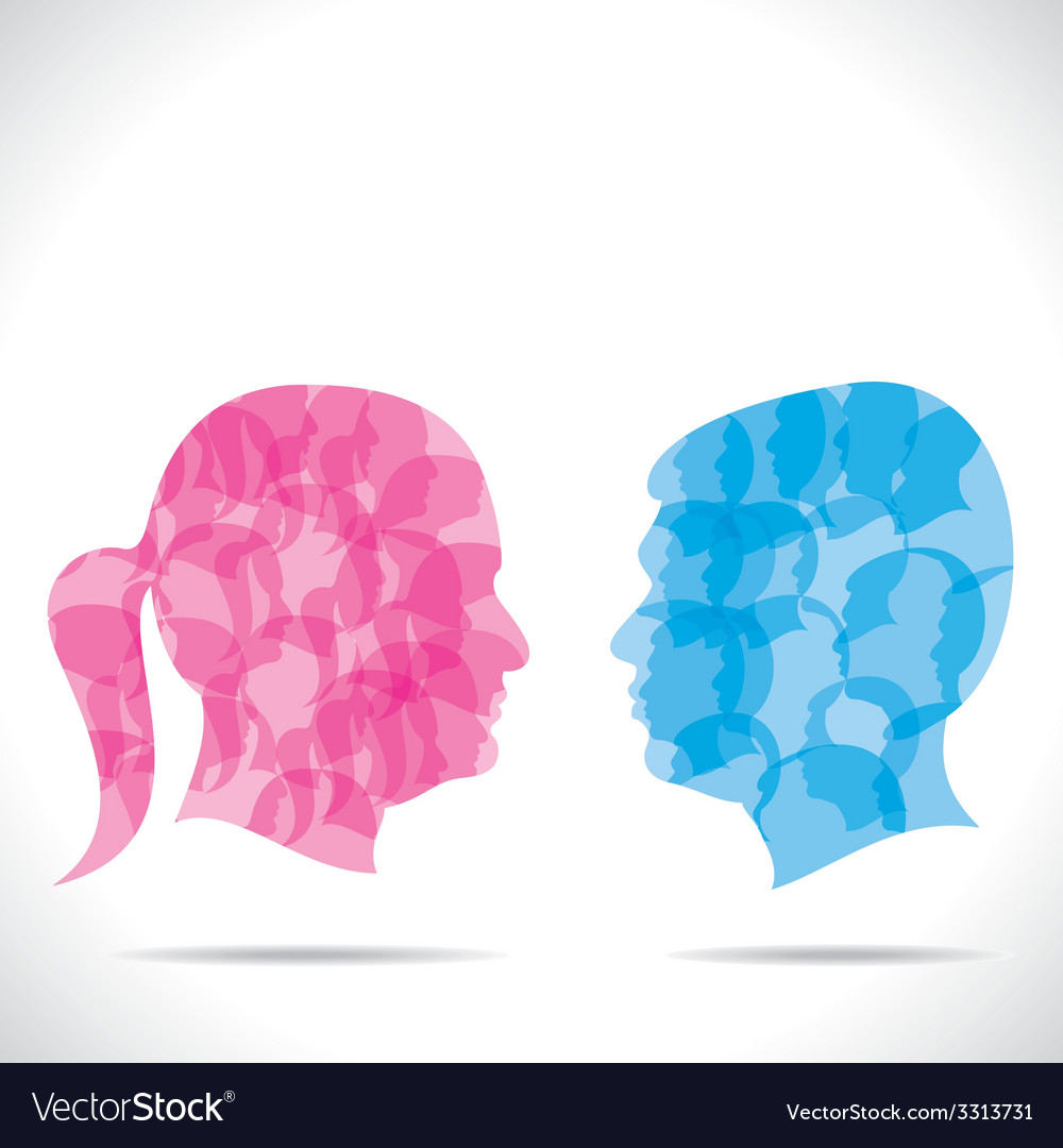 Blue men and pink women vector | Price: 1 Credit (USD $1)