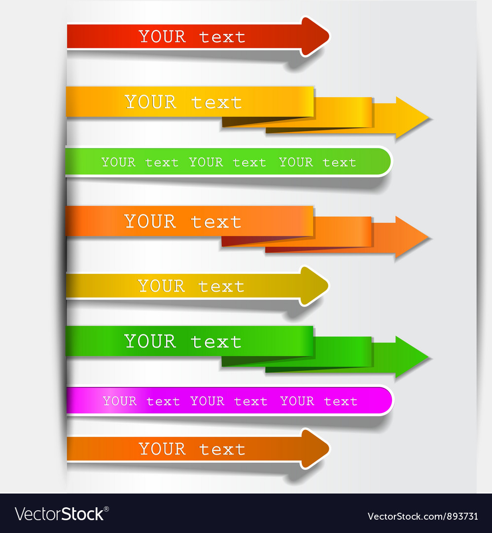 Bookmarks and arrows vector | Price: 1 Credit (USD $1)