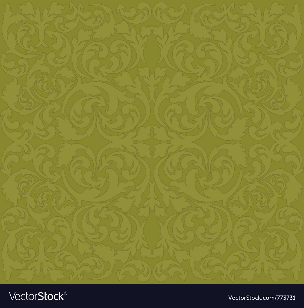 Brown background with floral ornaments vector | Price: 1 Credit (USD $1)