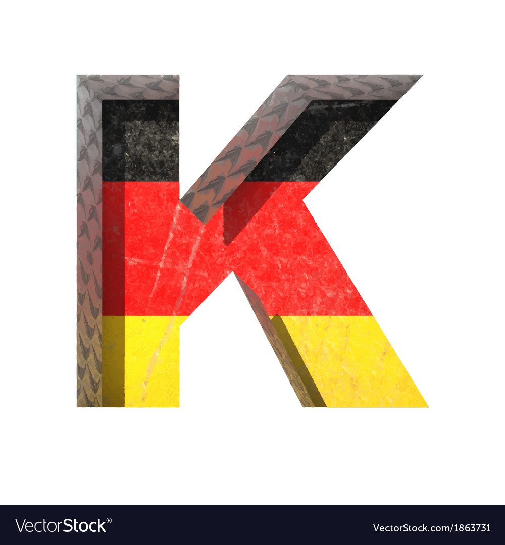 Germany cutted figure k vector | Price: 1 Credit (USD $1)
