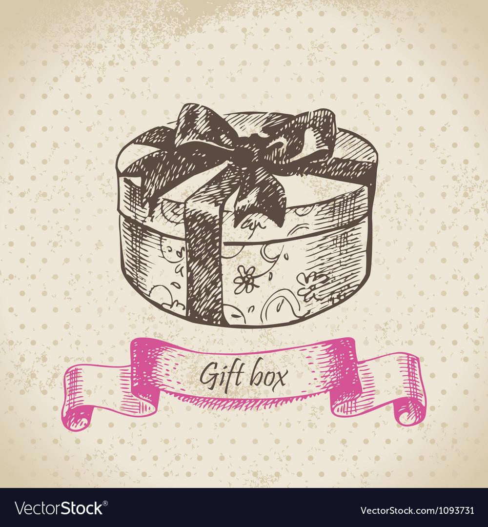 Gift box hand drawn vector | Price: 1 Credit (USD $1)